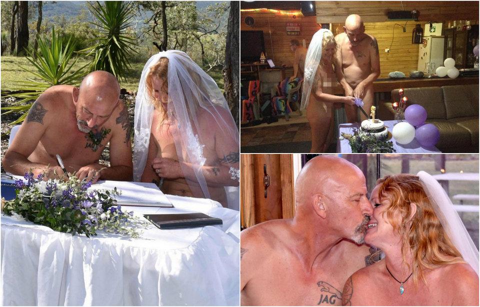 Родственники постеснялись присутствовать на голой свадьбе немолодой пары