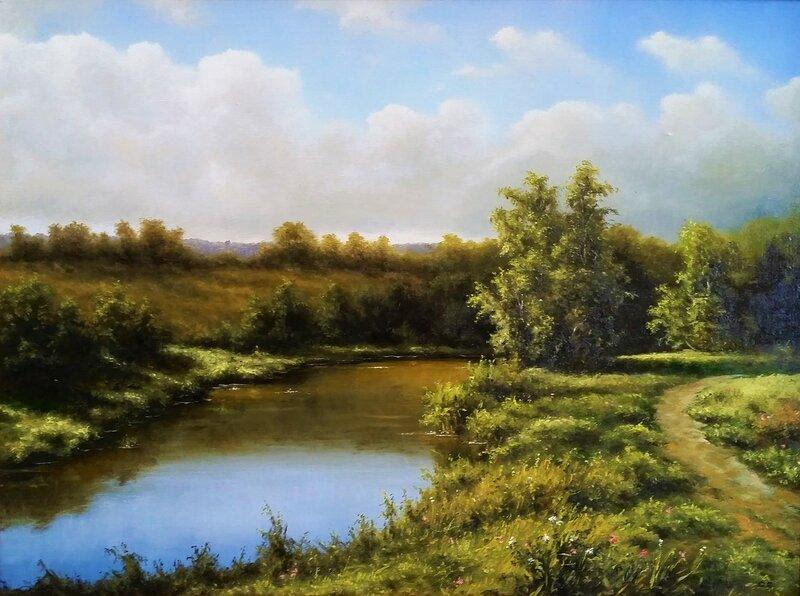 Пейзаж с речкой  ...