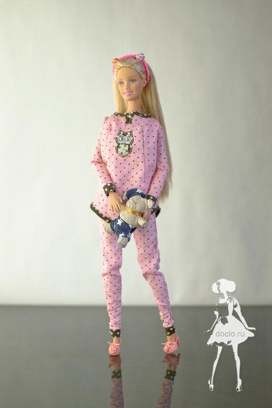 Как сшить пижама для куклы 432