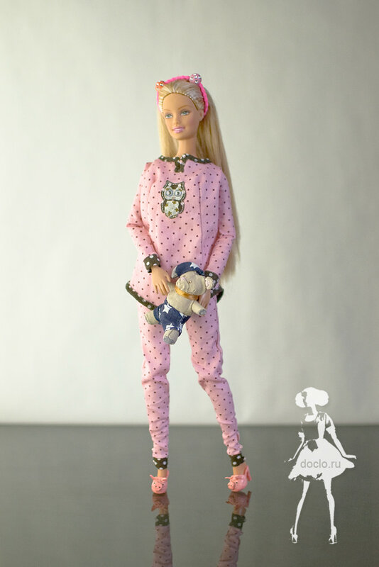Пижама для куклы своими руками 78