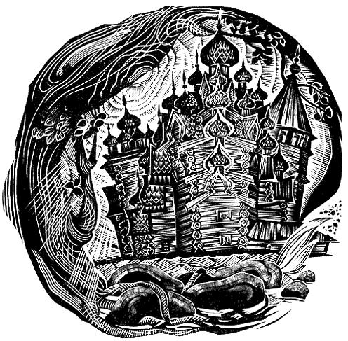 """Гравюра для титула к книге В. Дементьева """"Северные фрески"""" (1967)"""