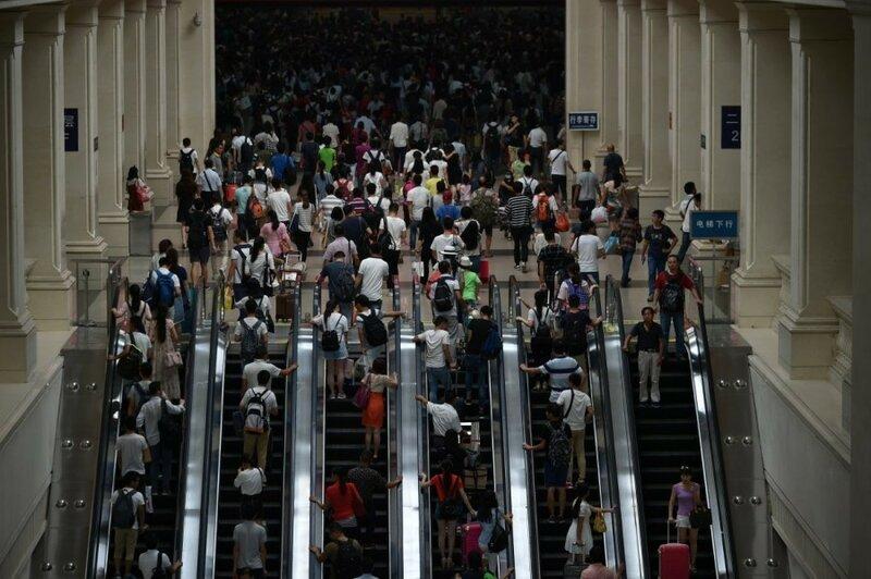 Шокирующие фотографии, показывающие, как много людей в Китае