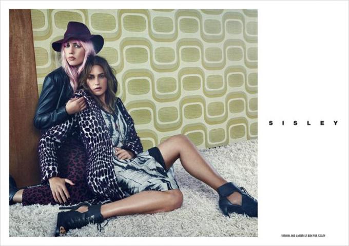 Ясмин и Амбер Ле Бон в рекламной кампании Sisley