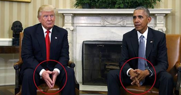 По его словам, Обама выглядел крайне устало и утомленно, в то время как Трамп был «робким, серьезным