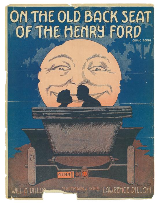 Ноты к юмористической песне On the Old Black Seat of the Henry Ford, 1916