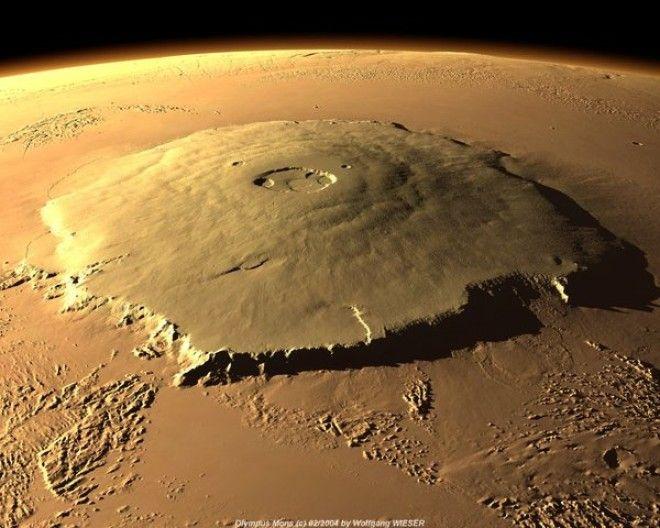 Немного Фактов: Диаметр кратера 85 000 м. Глубина кратера 3000 м. Высота вершины 21 229 м. Относител