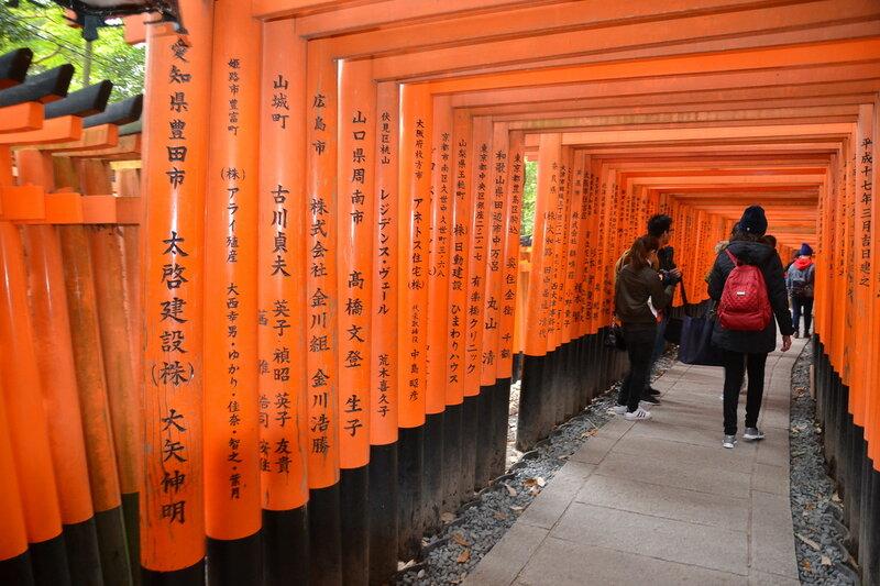 Алые ворота храма Инари