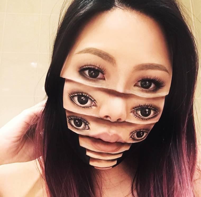 Strange makeup creations by Mimi Choi (22 pics)