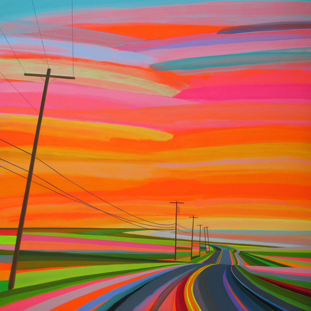 Neon Sunsets and Technicolor Landscapes Painted by Grant Haffner (8 pics)