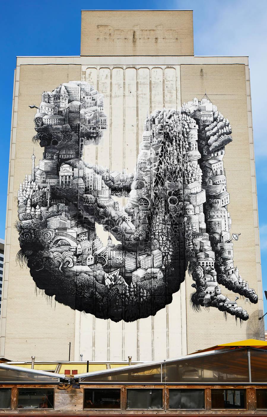Gigantic Street Artwork in Toronto