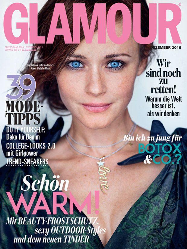 Gilmore Girls: Alexis Bledel Stars in Glamour Germany December Issue