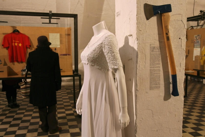 Each item in this collection -- be it a wedding dress or even an axe -- is a personal object left ov