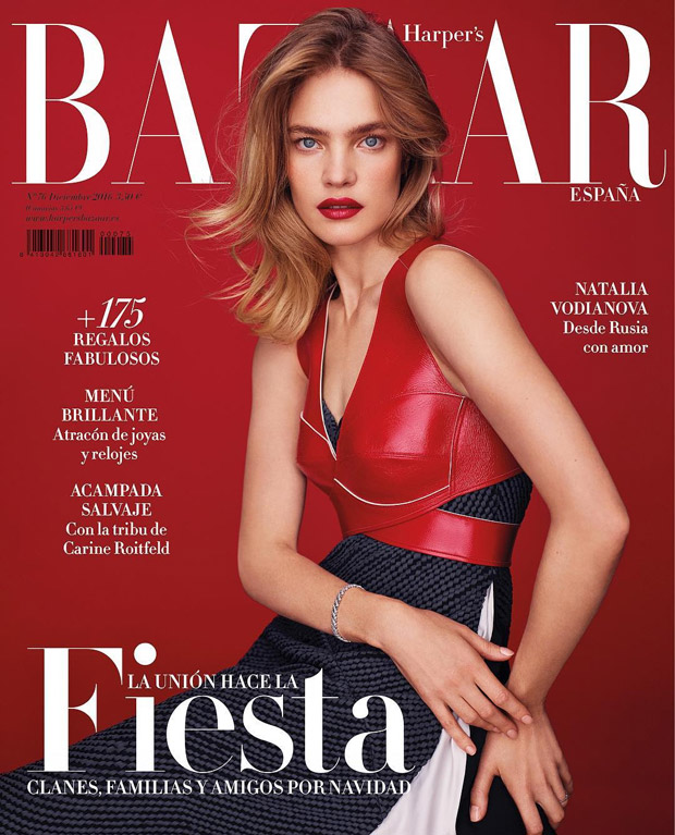Natalia Vodianova Is the Cover Girl of Bazaar Spain December 2016 Issue