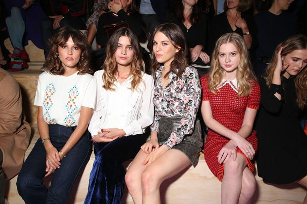FRONT ROW ACTION AT Miu Miu Spring Summer 2017 SHOW