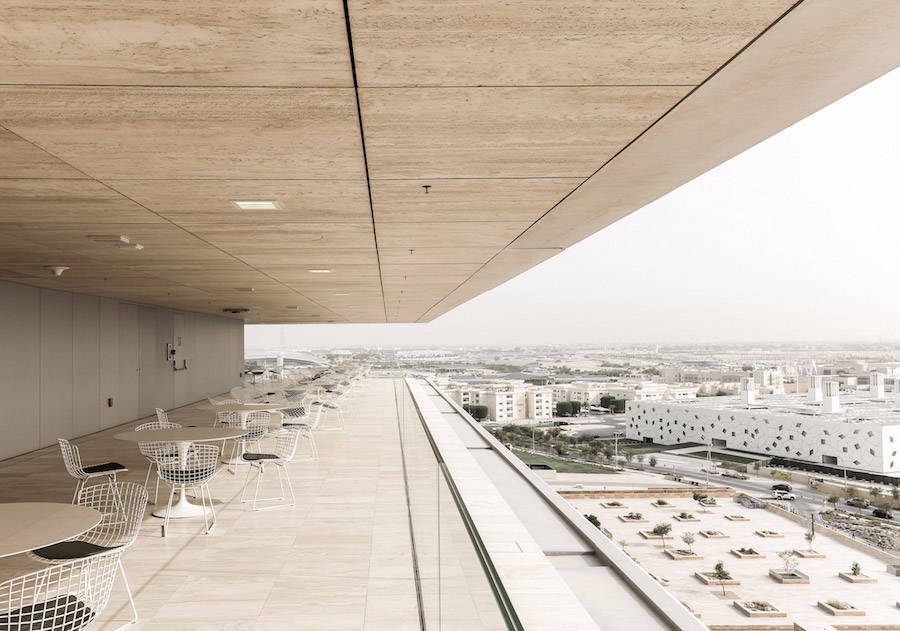 New Minimalist Qatar Foundation Headquarter by OMA