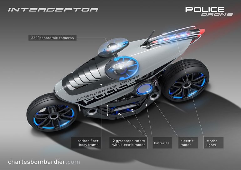 Шарль Бомбардье. Концепт полицейского мотоцикла будущего