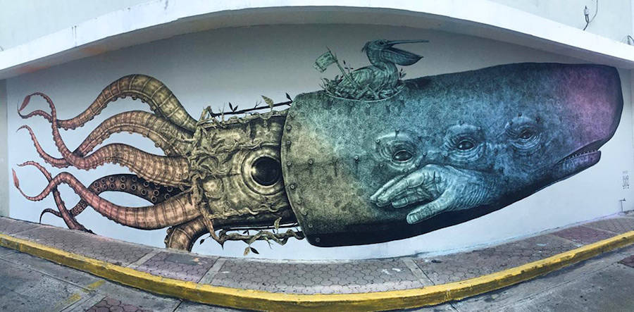 New Fantastic Murals by Alexis Diaz
