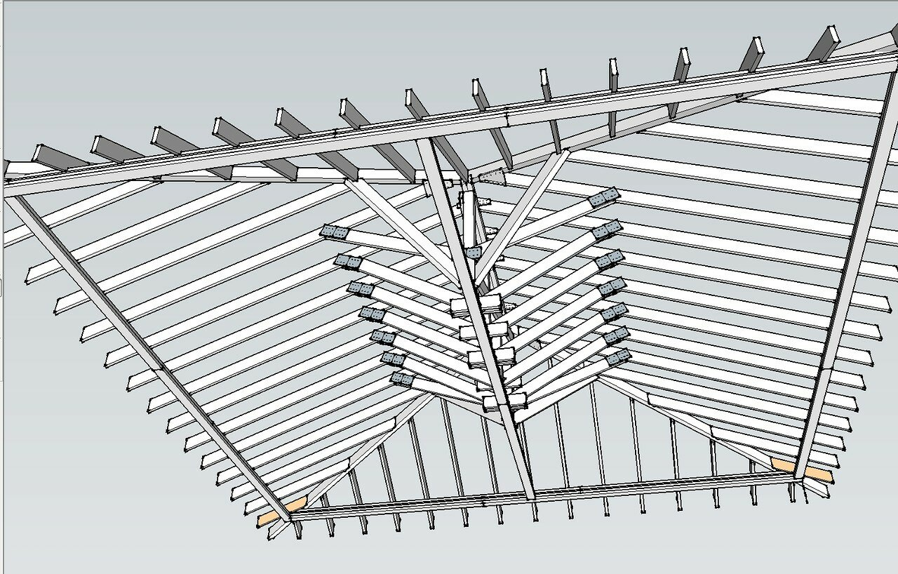 четырёхскатная крыша стропильная система калькулятор
