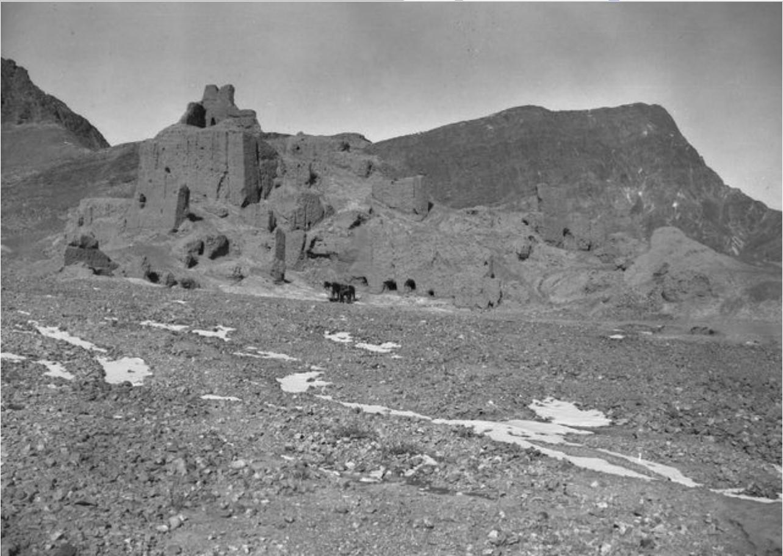 Руины в устье реки Кызыл-Дарья. Вид с северо-запада