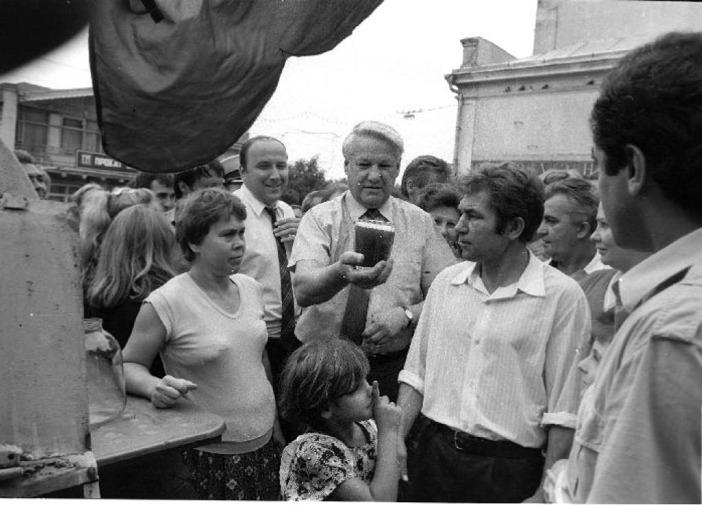 1990. Б.Н.Ельцин во Владивостоке
