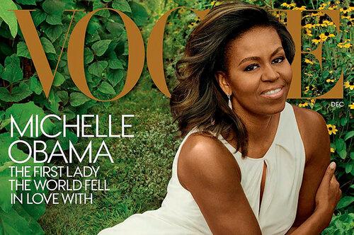 Бывшая первая леди украсила обложку американского Vogue