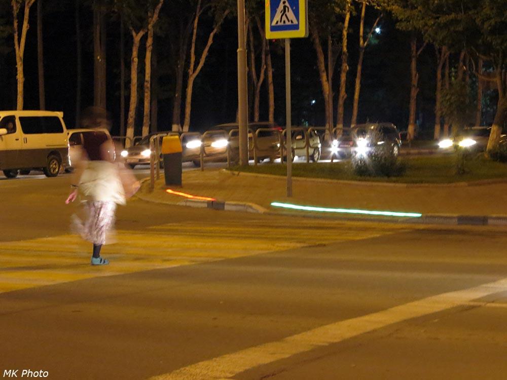 Подсветка пешеходного перехода