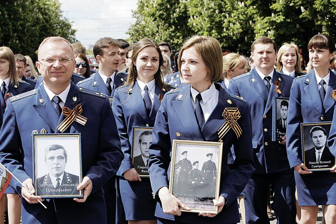 9 Мая Наталья Поклонская прошла по Симферополю во время акции «Бессмертный полк»
