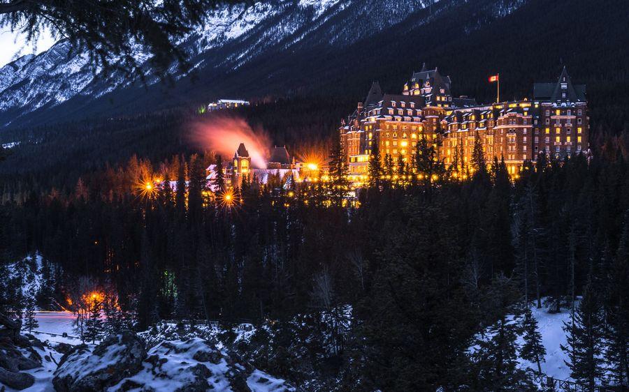 Пейзаж зима фото