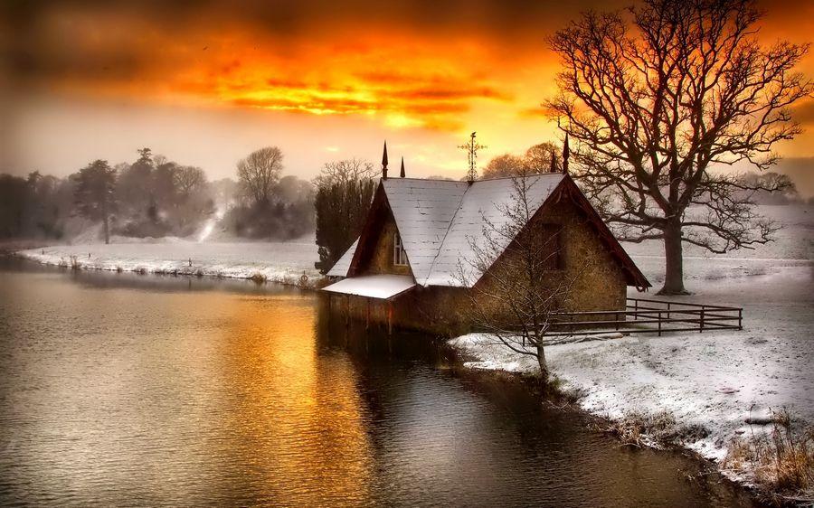 Пейзаж картинки зимы