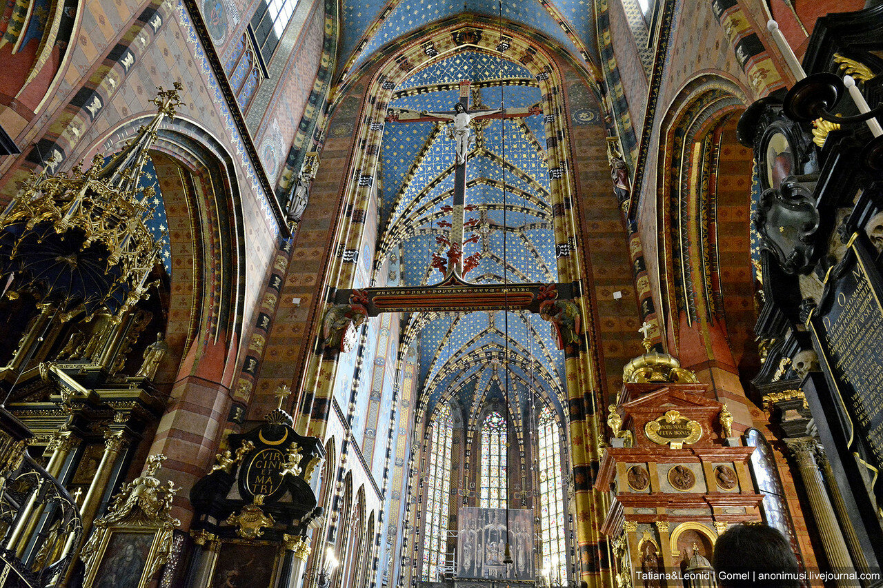 Мариацкий собор или костел в честь Успения Девы Марии. Краков