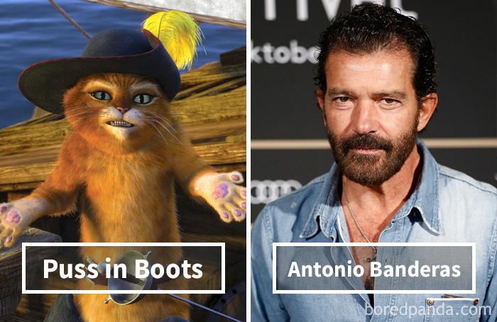 Кот в сапогах («Шрек») — Антонио Бандерас.