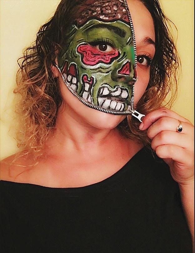Зомби в стиле поп-арт.