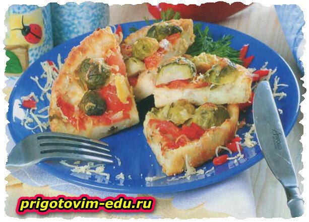 Творожный пирог с овощами