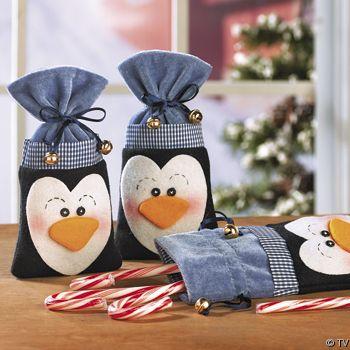 Тканевая уУпаковка для новогоднего подарка