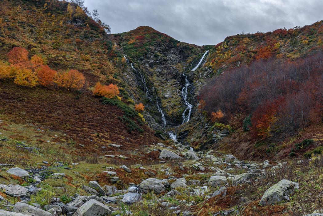 Ачипсинский водопад (водопад Братья) на Ачишхо
