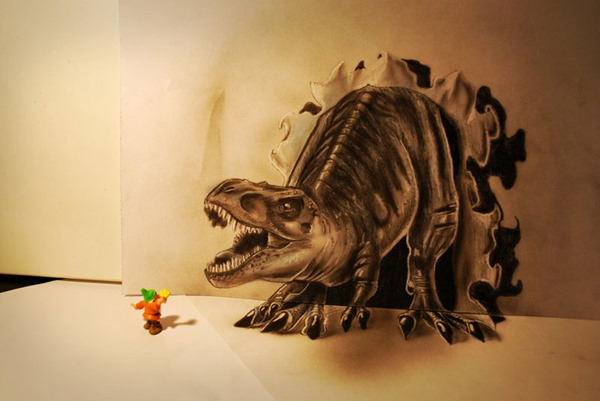 Рамон Брюин. Объемные 3D рисунки выходят за лист бумаги
