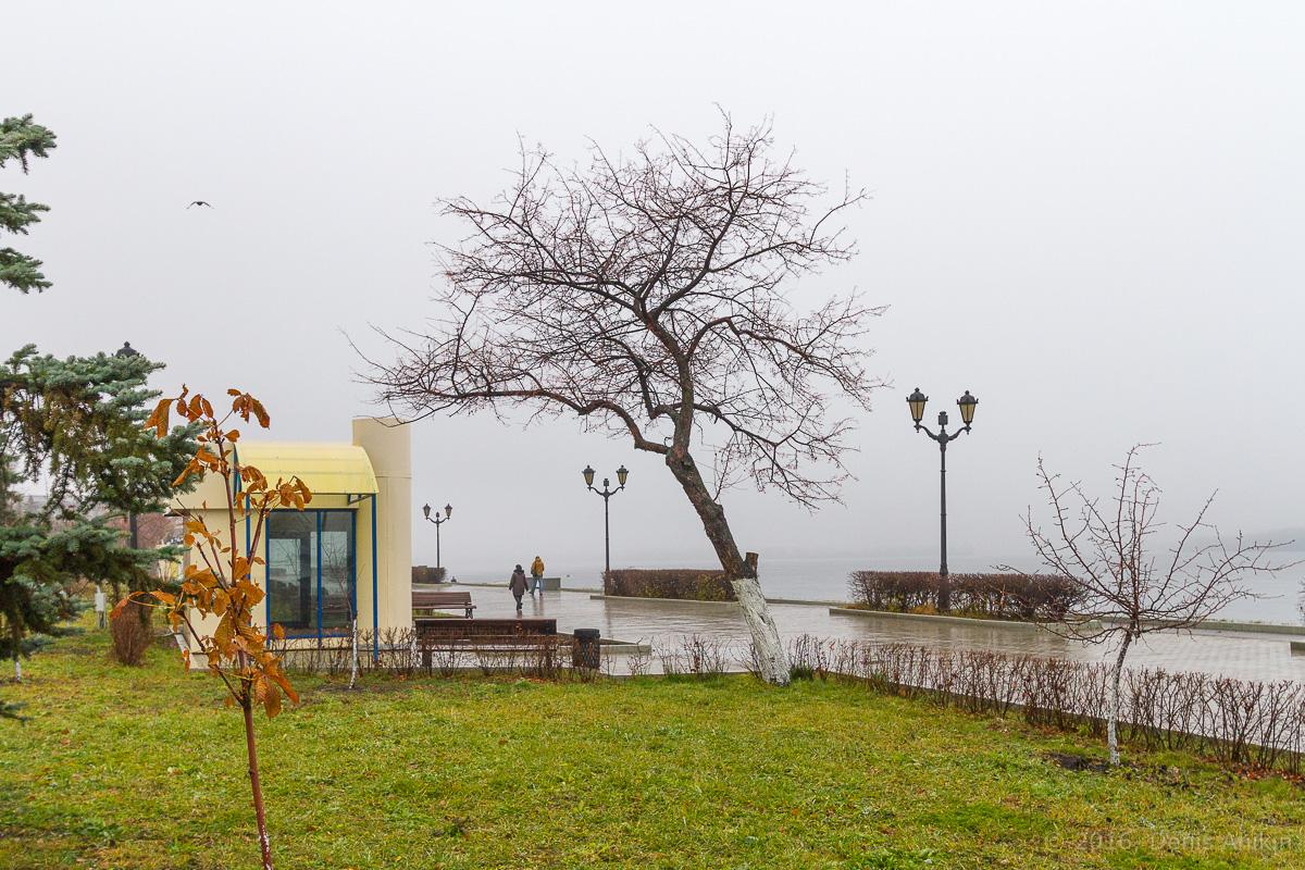 Самара набережная туман дождь фото 15