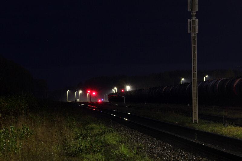 Нечётные выходные светофоры станции Идрица, Рижское направление. вид на Себеж