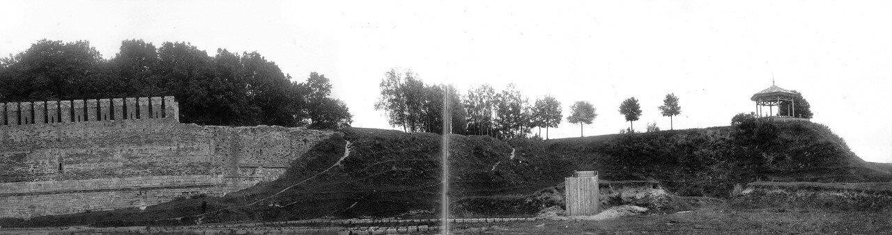 Крепостная стена и Королевский бастион. 1912