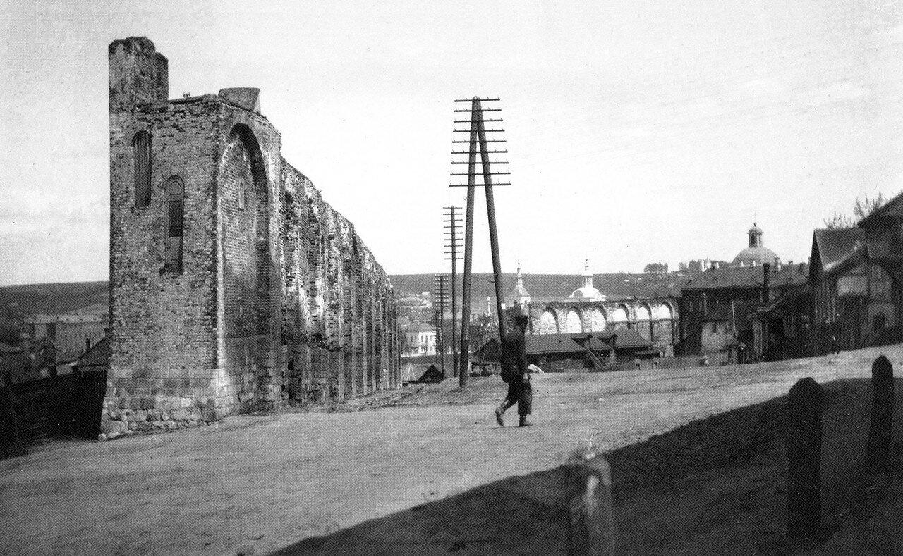Крепостная стена и Немецкая улица. 1907