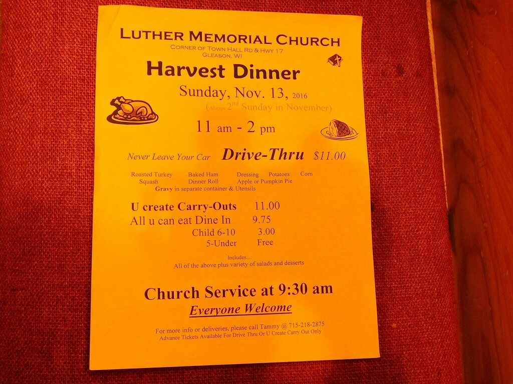 Harvest Dinner.