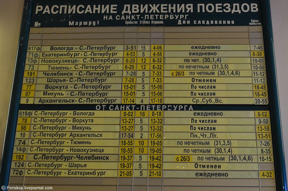 поезд санкт-петербург котлас маршрут следования поесть