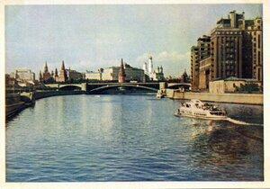 Москва. Б. Каменный мост. Фото Ю. Кривоносова. Правда, 1957, 350 тыс.jpg