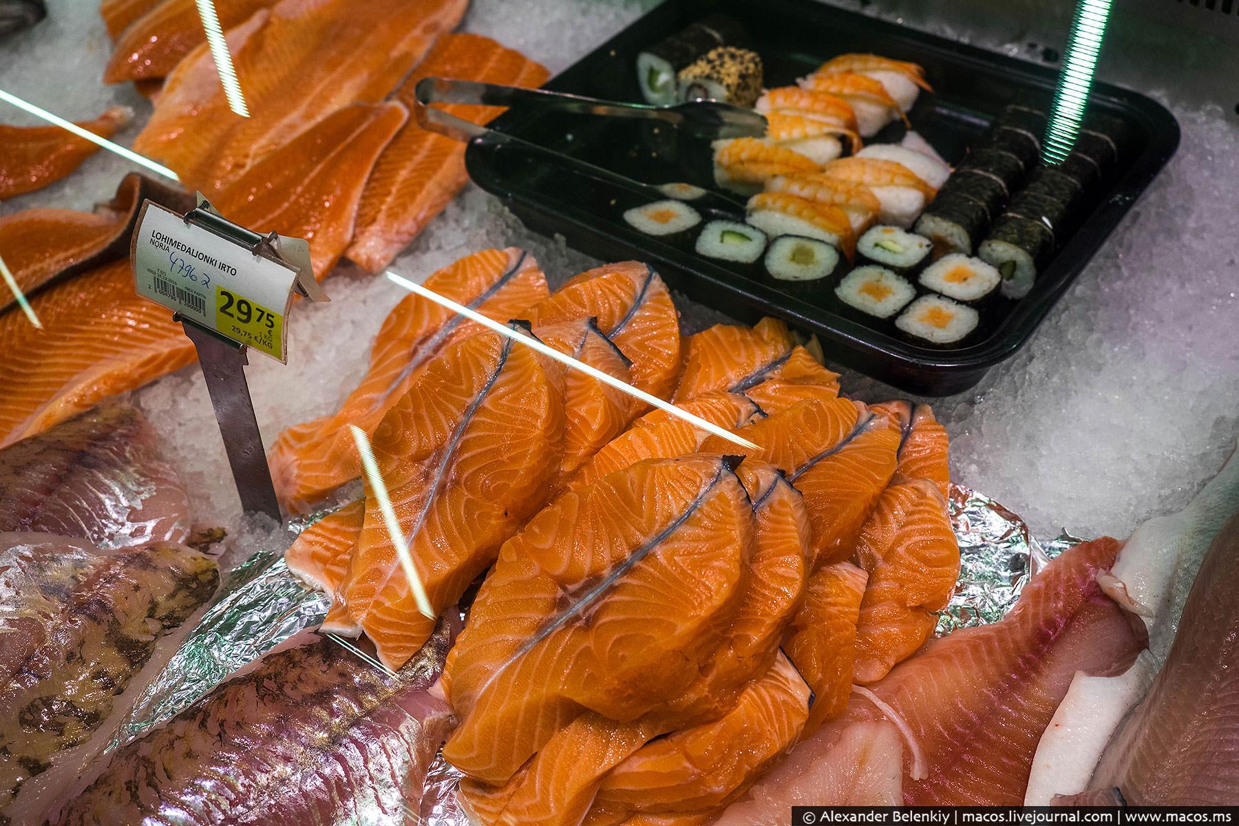 Даже странно, что при такой свежей рыбе у них совсем не популярны суши-бары.