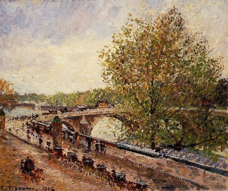 Pissarro_The_Pont_ Royal_Grey_weather_ afternoon_spring_1902