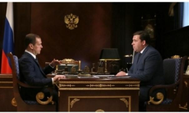 Свердловский губернатор Евгений Куйвашев накануне побывал вподмосковных Горках