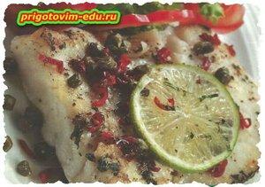 Рыба гриль с каперсами