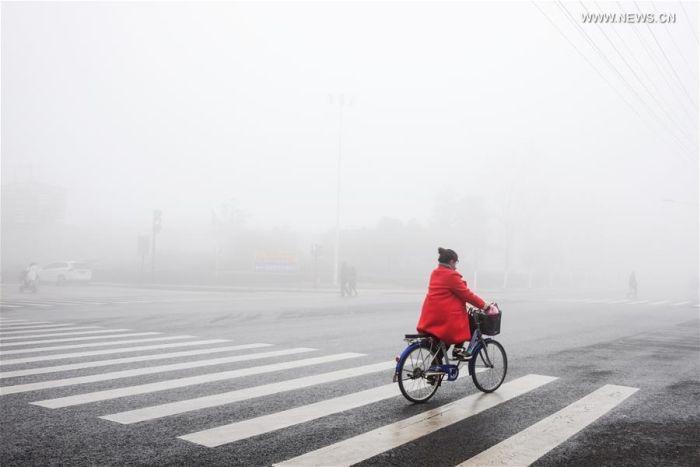 В Китае из-за смога впервые объявили наивысший красный уровень опасности