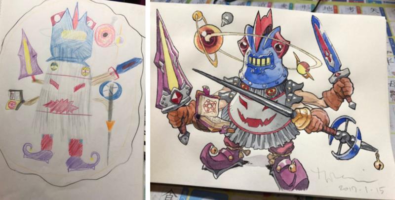 Папа превращает рисунки сыновей в потрясающие аниме-персонажи