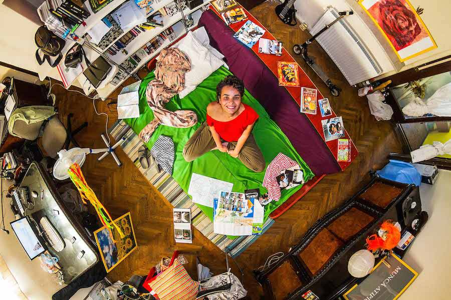 Intimate Aerial Pictures of People in their Bedrooms (7 pics)